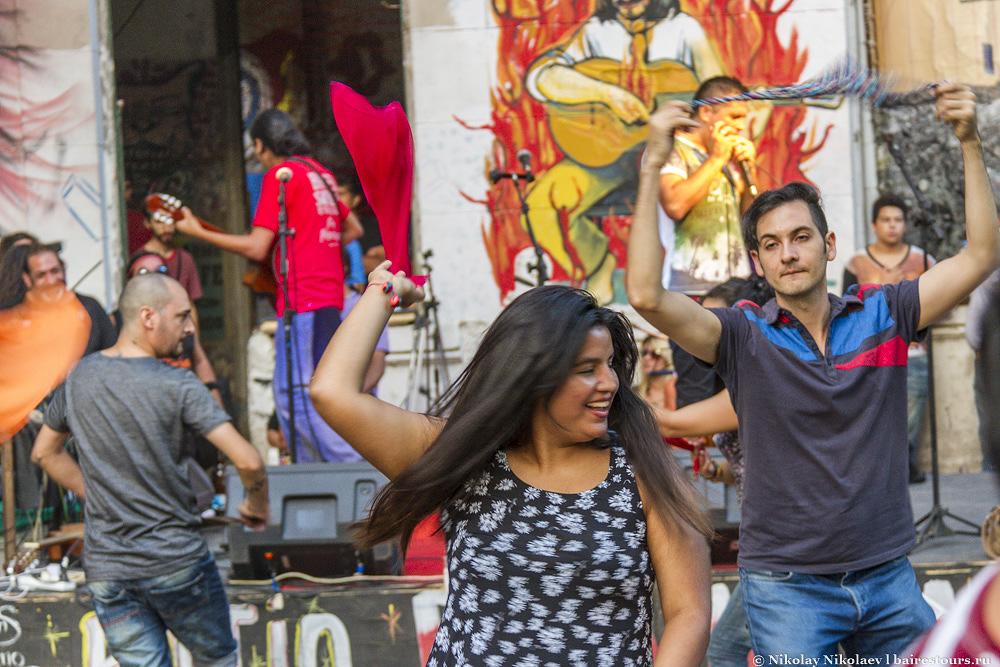 45. Здесь можно увидеть массу латинских танцев и даже африканские танцы, при этом подобные мероприятия могут организоваться вполне спонтанно.
