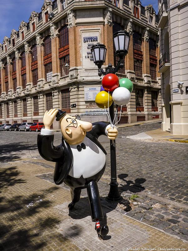 62. Скульптуры аргентинских мультяшных героев – одна из фишек Буэнос-Айреса, можно отправиться на целую длительную прогулку по местам нахождения этих героев.