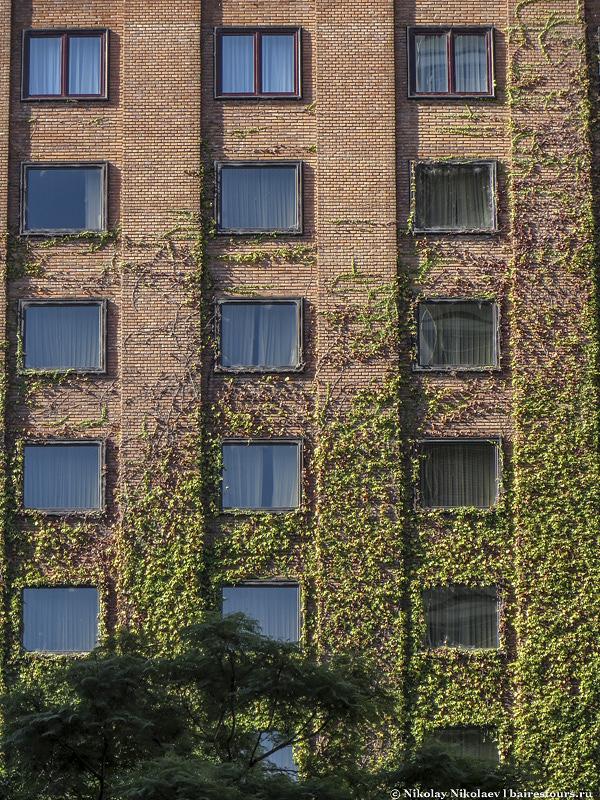 31. Стены некоторых зданий декорируют зеленью. Выглядит очень органично.