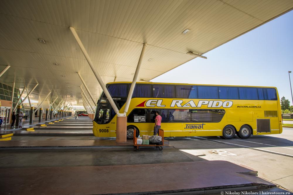 3. Перрон отличного автовокзала в аргентинском захолустье