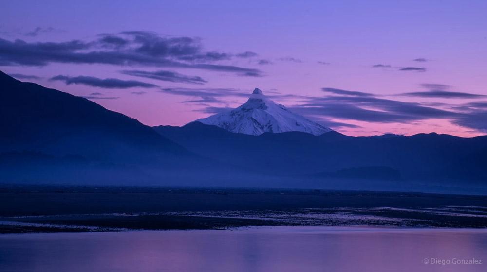 Вулкан Корковадо в Андах