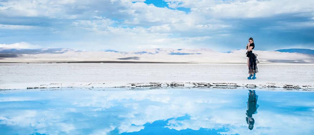 Озеро Салинас Грандес в Аргентине