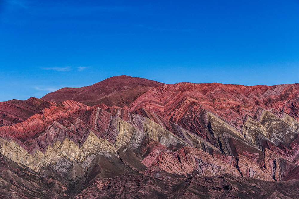 Цветная гора Орнокал в Аргентине